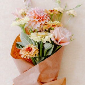 Wrapped Flower Bouquet for Gifts, Floral Subscriptions, Baltimore, Maryland, Bel Air, Maryland, Maryland Grown Flowers