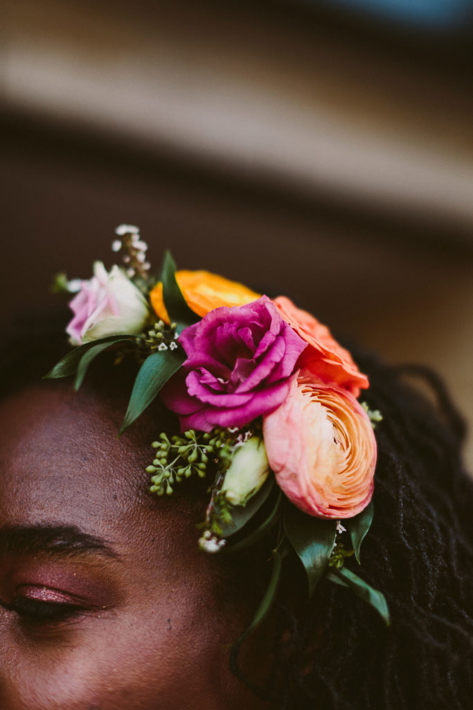 Best Baltimore Wedding Florist, Baltimore Weddings, Floral Hair Accent for Bride
