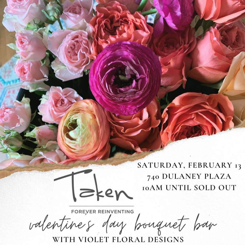 towson maryland valentine's day flowers, flower bar, wrapped bouquets galentine's day activities in baltimore 2021